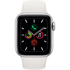 Apple Watch Series 5 GPS + Cell 44mm Caja de acero Correa deportiva blanca