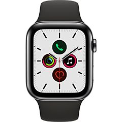 Apple Watch Series 5 GPS + Cell 44mm Caja de acero Correa deportiva negra
