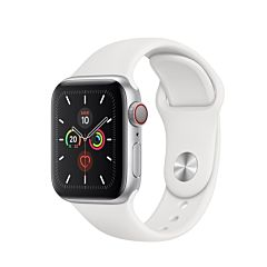 Apple watch series 5 gps  cell 40mm caja aluminio plata con correa blanca
