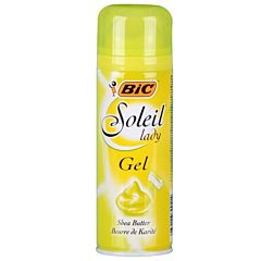 Gel sensitive soleil green para depilación mujer - bic comfort - 150 ml