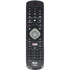 Mando a distancia universal tm electron tmurc340 - compatible con tv philips - 2*aaa (no incluidas) - negro